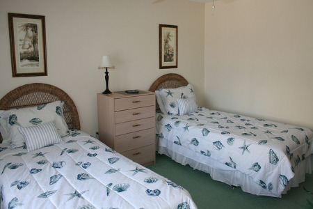 2nd bedroom with two twin beds